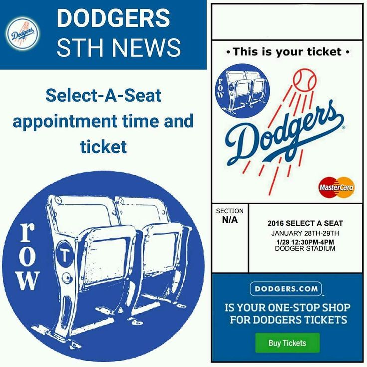 THINK BLUE: Dodgers Season Ticket Holders Select-A-Seat We will be adding more seats to our 2016 inventory... What's your favorite section? What seats should we add? More All You Can Eat Pavilion? More Left Field Pavilion? More Loge? More Field? More Reserve? More Top Deck? Contact us for all our ticket selections Opening Day Tickets now available Don't wait till last minute... Direct Ticket Line: 323-243-1858 Email= row.t.aisle.seat@gmail.com Or Direct Message us on here  As always LET'S GO…