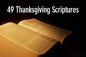 I have posted 49 different Thanksgiving scriptures - verses that have to do with thanks and gratitude. You can use these during your Thanksgiving gatherings or during the holiday season.