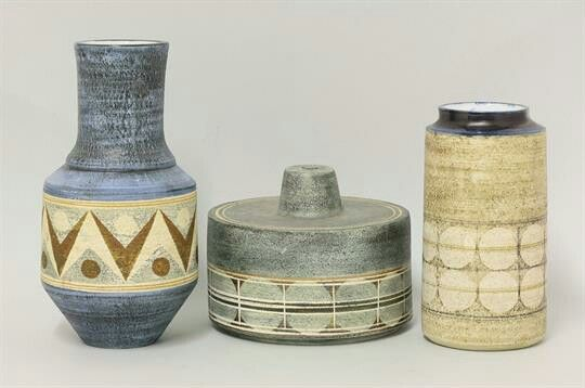 Troika vases - by Penny Broadribb and Honor Curtis