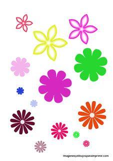 flores para imprimir y recortar                                                                                                                                                      Más