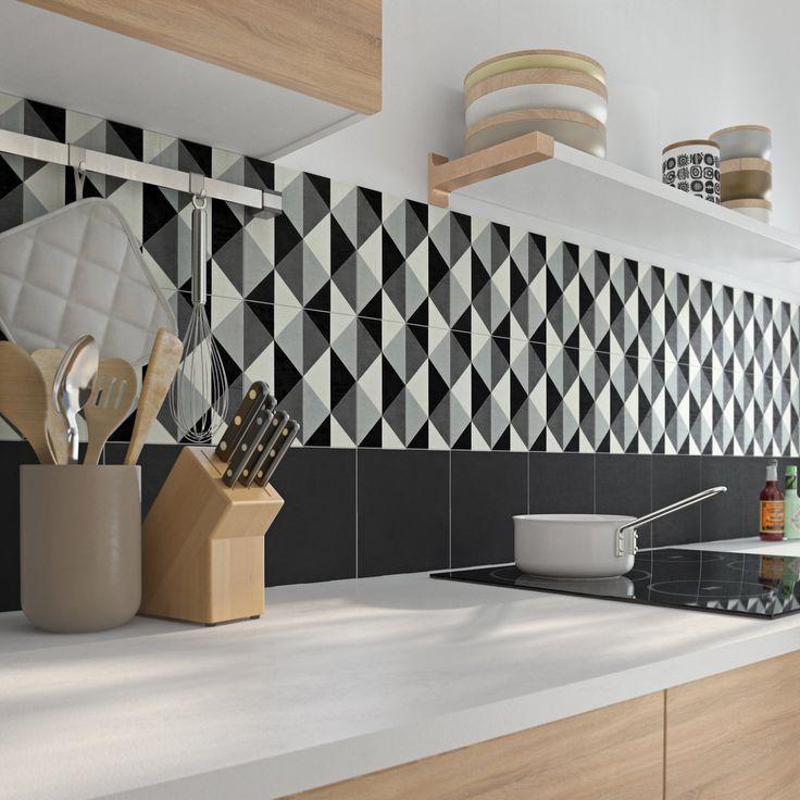 21 best cuisine bois et gris images on Pinterest Kitchen ideas - hauteur entre meuble bas et haut cuisine