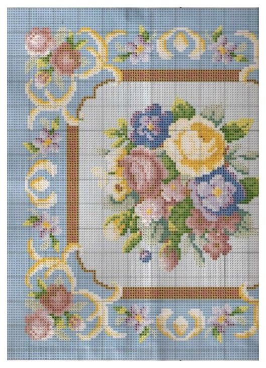 miniature needlework chart (left side)