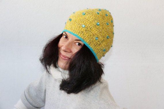 cappello cappellino mohair e lana fatto a mano di PaolaCollection