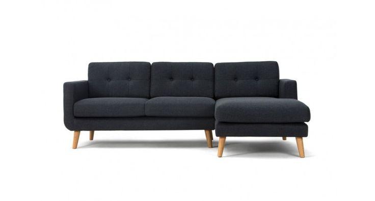 Conrad,   3-seater sofa w/ chaiselong right, Vendy Antracit