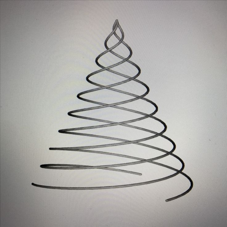 Redefining Christmas decorations. Tree of three spirals - wire #madebymagnusgreni