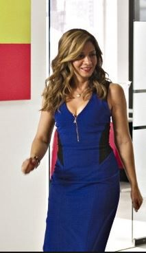 The blue dress with THAT zip!  Lida Baday