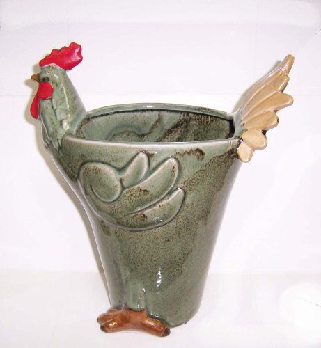 "Fine Ceramic Rooster Themed Vase -- 11"" X 9"" X 4"" houseware international,http://www.amazon.com/dp/B004MNOX5Y/ref=cm_sw_r_pi_dp_7diBtb0AQ1DS4BYV"