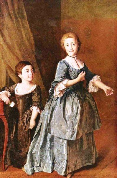 Портрет Феодосии Степановны Ржевской (справа) и Настасьи Михайловны Давыдовой (слева) 1772 г. (?)