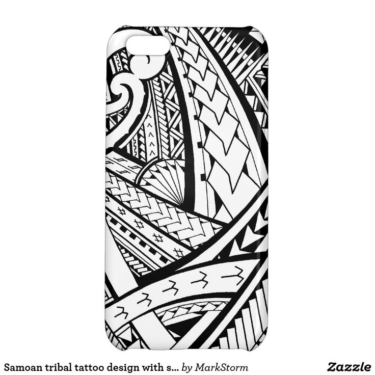 Samoan tribal tattoo design with spearheads iPhone case