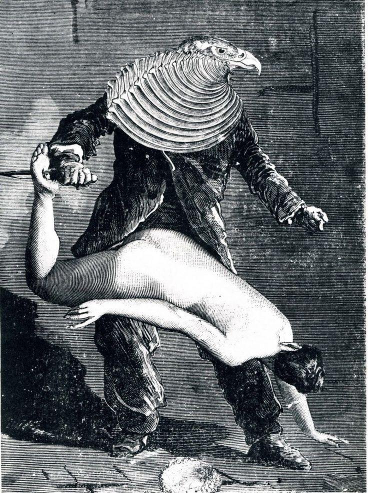 Max Ernst - From the collage novel, Une Semaine de Bonté - 1934