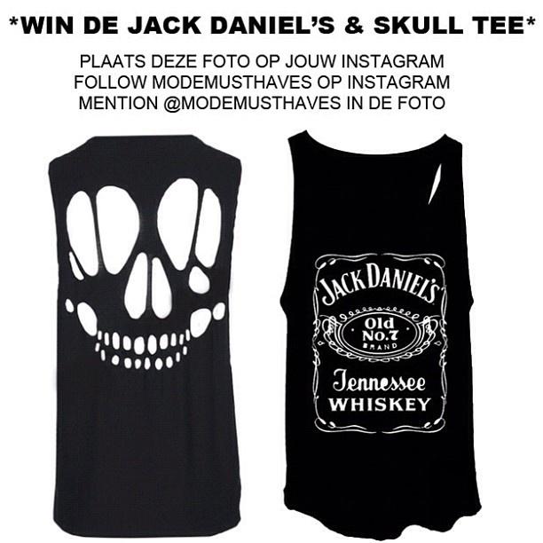 Modemusthaves Winactie Instagram Jack Daniels Tank Top   @ModeMusthaves .com