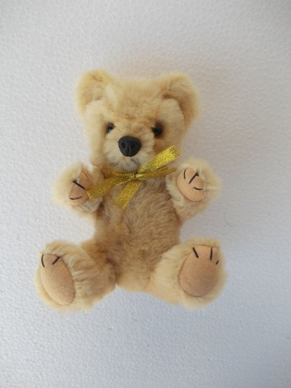 Vintage teddy bear Pure wool teddy bear by LorensDolls on Etsy