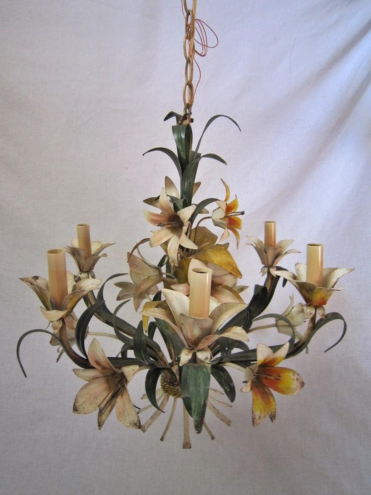 Italian Tole Flower Chandelier - 31 Best Vintage Tole Chandeliers Images On Pinterest Child Room