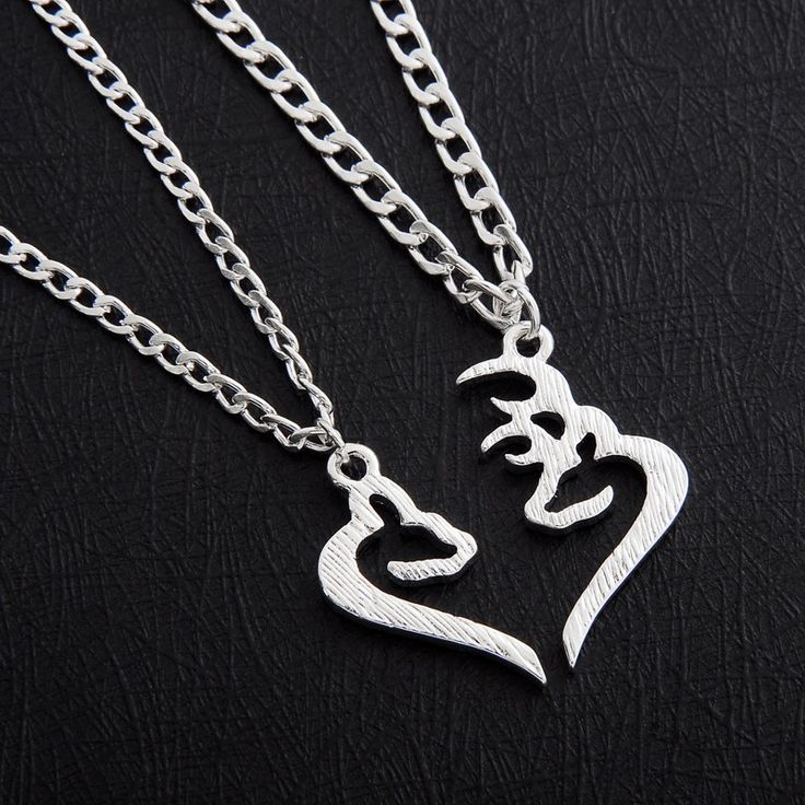 Southern Sisters Designs - Buck and Doe Hand Cut Couples Necklace Set, $23.95 (http://www.southernsistersdesigns.com/buck-and-doe-hand-cut-couples-necklace-set/)