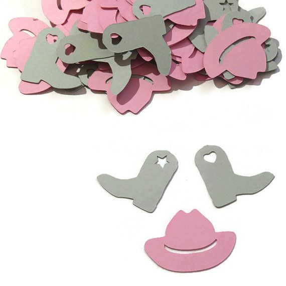 Cowgirl Confetti  Cowgirl hat and boots  100 pieces door PartyParts