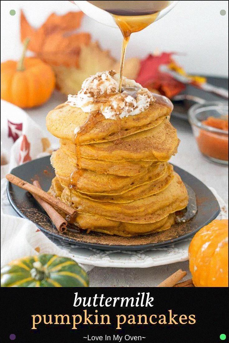 If Pumpkin Pie Pancakes Sound Delightful To You These Buttermilk Pumpkin Pancakes Wi In 2020 Pumpkin Buttermilk Pancakes Pumpkin Pancakes Healthy Pumpkin Pie Pancakes