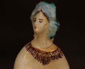 """The goddesses III – Majolica and ceramic Statuette of the collection """"Goddesses of the Full Moon"""" - made entirely with clay sculpted, molded and painted by hand, cooking in the oven at more than 1,000 degrees. #madeinitaly #artigianato"""