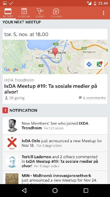 Meetup activity