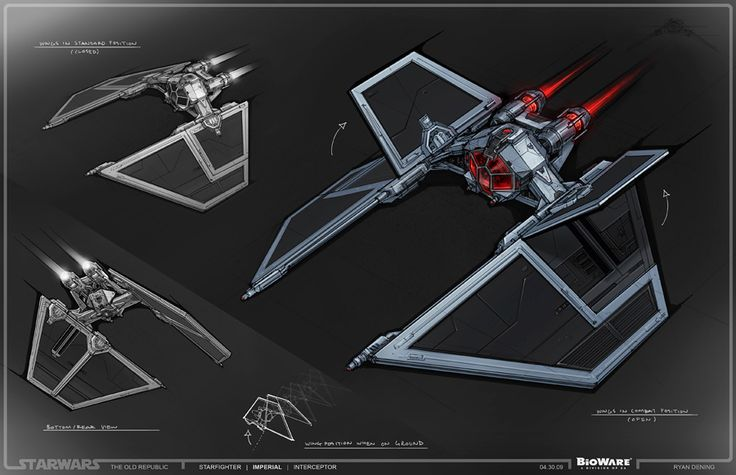 SWTOR Concept Art - Sith Fighter // by Ryan Dening