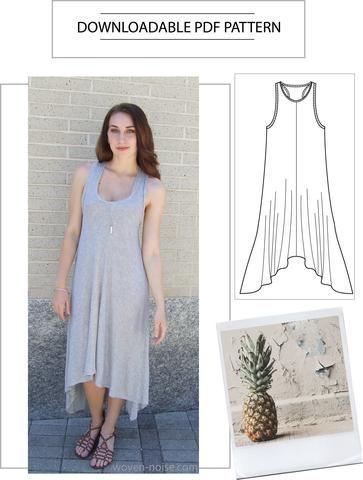 PDF Sewing Pattern - Maxi Dress