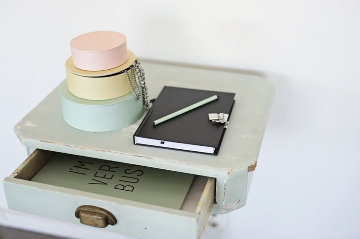 Diary and round boxes. Perfect for your bedside table. #lagerhaus #aw15