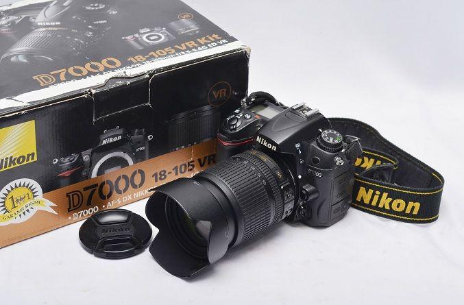 Jual Kamera DSLR Bekas – Nikon D7000 Fullset: Nikon D7000 + Lensa 18-105mm VR Harga: Rp. 6.100.000,- (Ready Stok)