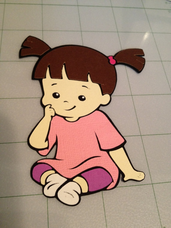 4 Sitting down Boo from Monsters Inc by LittleBigA on Etsy, $1.25