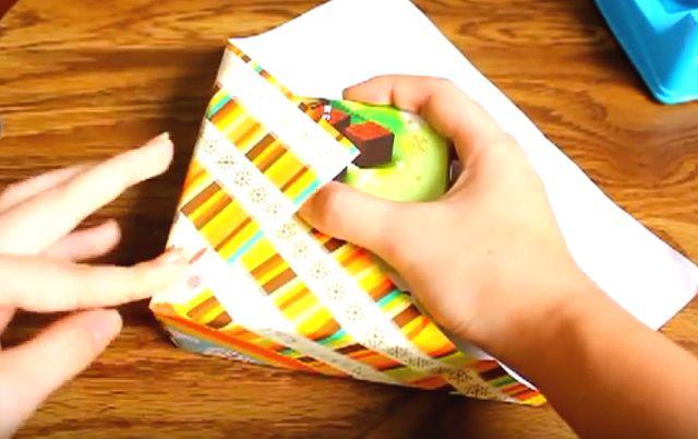 Har du mange gaver å pakke inn? Se video - prøv dette - og døm selv!