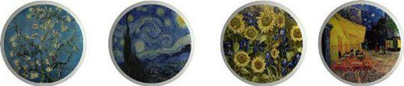 Van Gogh Art Set of 4 Ceramic Knobs or Pulls for Furniture and