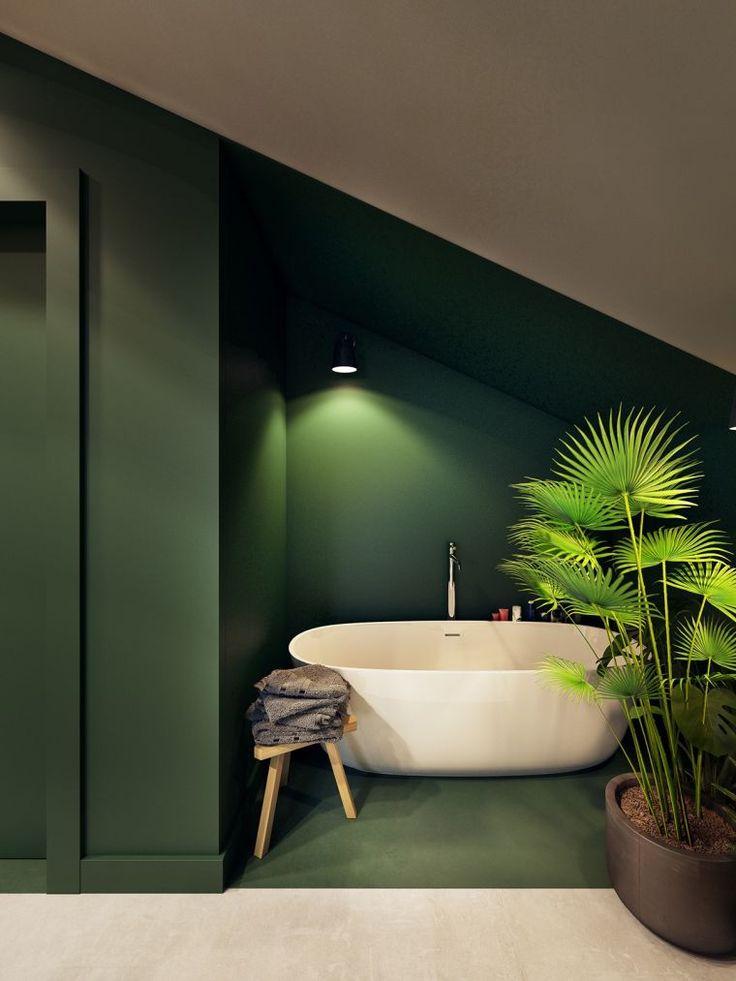 La nuance de vert en déco de maison design – un exemple magnifique signé Zarysy