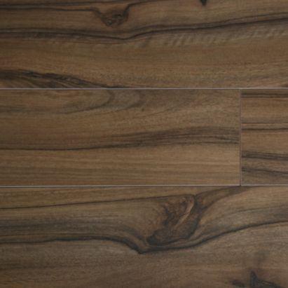 Colours scherzo dark brown walnut effect laminate flooring for Dark brown laminate wood flooring