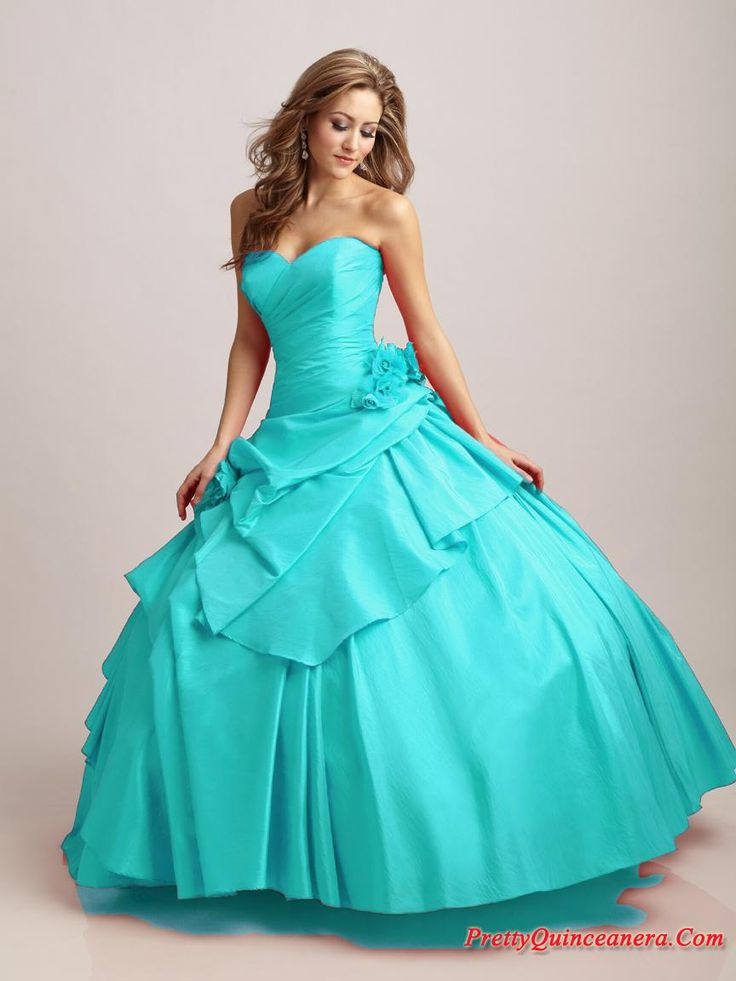 Tiffany Blue | ball gown strapless floor-length Tiffany Designs Style 16868, Blue ...