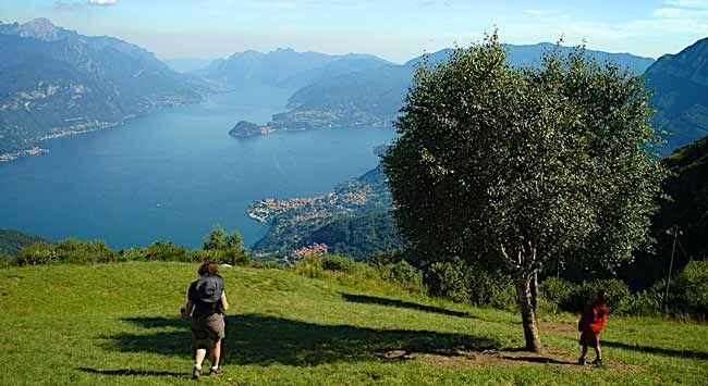 View from Rifugio Menaggio (above Lake Como)