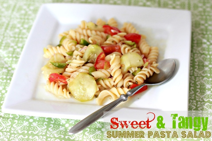 this looks amazing!  Sweet & Tangy Summer Pasta Salad