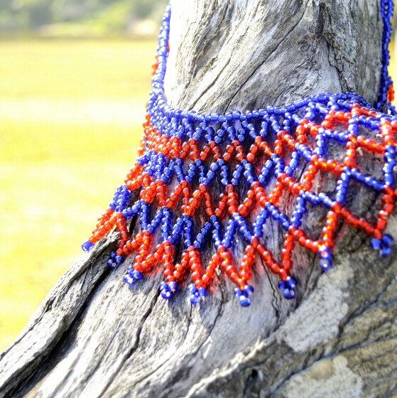 Nature meets art. A new necklace, beaded in Africa.