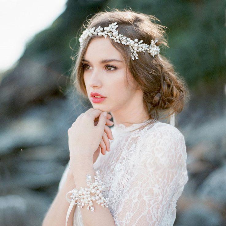 Новые приходят ручной работы свадебные аксессуары кристалл жемчуг бусины настоящее изображения мода 2016 горячая распродажа купить на AliExpress