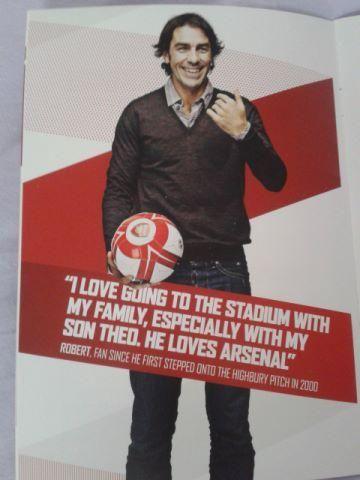 Robert Pires, former Arsenal player.