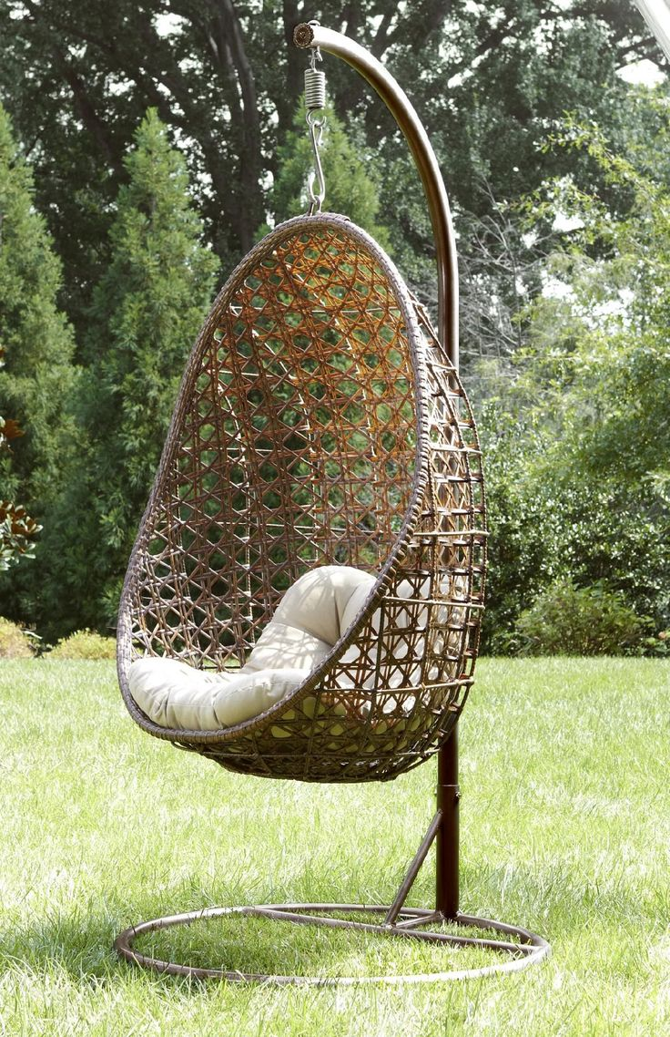 Swing chair outdoor patio - Ty Pennington Style Mayfield Hanging Chair With Stand Outdoor Living Patio Furniture