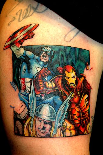 avengers tattoos via ink pinterest avengers tattoo tattoo and. Black Bedroom Furniture Sets. Home Design Ideas