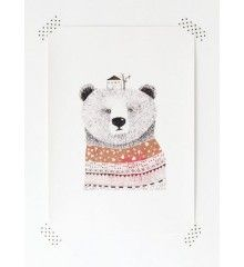 Poster Bear by Miss Malagata. Available in the Printed Stories webshop.