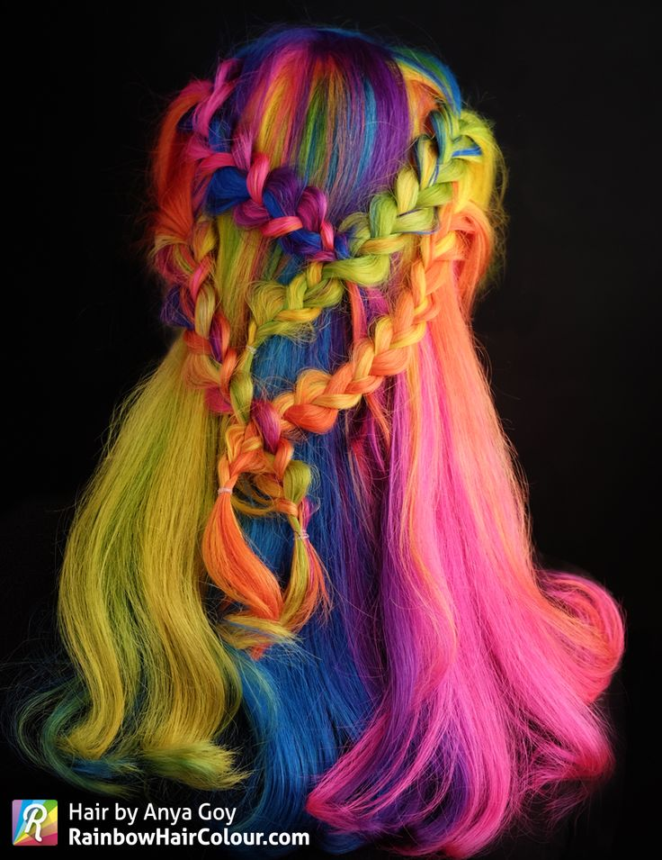 video tutorial rainbow hair pinwheel