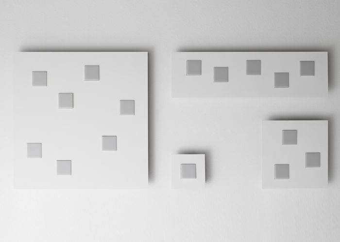 #Quarter, ceiling lamp, available in different sizes and colors, perfect to enlighten a living room or to be used in contract spaces, Fabbian Illuminazione spa #design #lightdesign #lamp #designlamp #white #Fabbian #mdw2015 #news2015 #cube #white #black #corten #interiordesign #living #homedecor