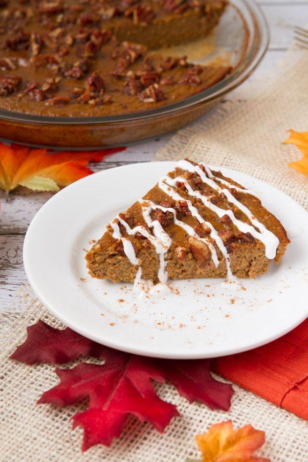 High Protein Crustless Pumpkin Pie (Gluten-free & Paleo)