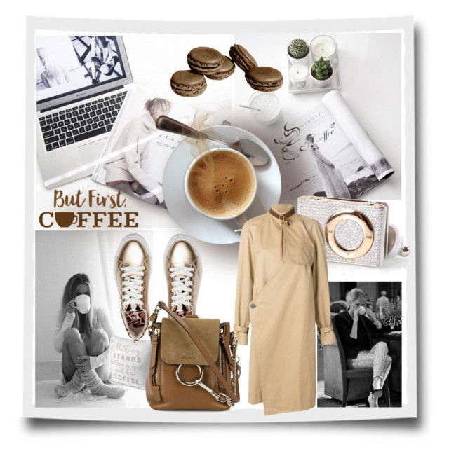 Coffee addict by evachasioti on Polyvore featuring J.W. Anderson, Chloé, coffee and coffeebreak