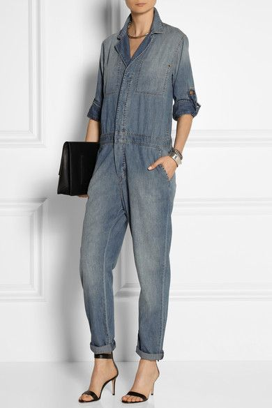 The mechanic denim jumpsuit [taken out of the garage].