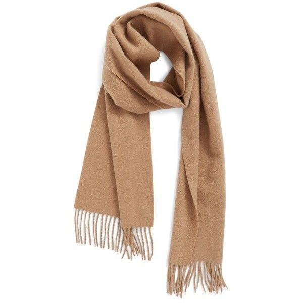Women's Nordstrom Solid Woven Cashmere Scarf ($40) ❤ liked on Polyvore featuring accessories, scarves, tan camel heather, cashmere scarves, braided scarves, cashmere shawl, woven scarves and nordstrom scarves