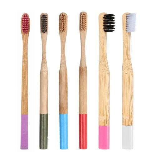 1pc Bamboo Toothbrush Natural Eco-friendly Soft Bristle Toothbrush Oral Care fc