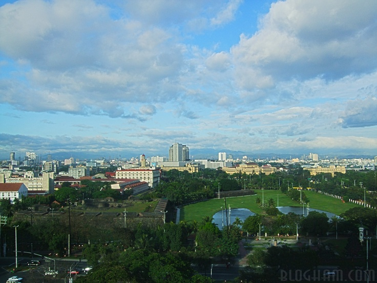 A view from Manila Hotel of Intramuros Manila