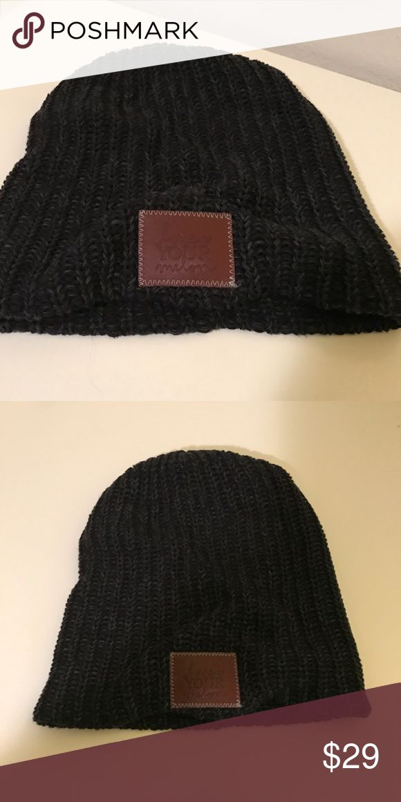 Love Your Mellon | Black Beanie Cute Love Your Melon beanie in black. Excellent condition, never got to wear it. Love Your Melon Accessories Hats