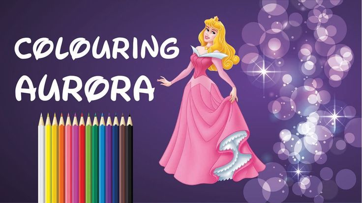 Fun Colouring Disney Princesses: Aurora from Sleeping Beauty